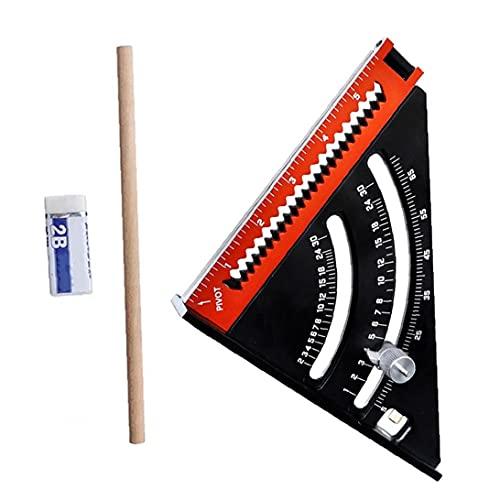 Plaza plegable herramienta de diseño extensible regla multi-ángulo manual de la herramienta de medición de la aleación de aluminio de la madera diseño de hardware Suministros