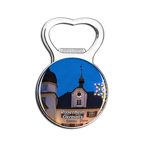 Weekino Rosenheim Weihnachtsmarkt Deutschland Bier Flaschenöffner Kühlschrank Magnet Metall Souvenir Reise Gift
