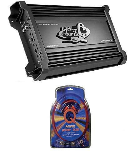 LANZAR HTG157 3000W Mono MOSFET Car Audio Power Amplifier Stereo 2 Ohm+Amp Kit