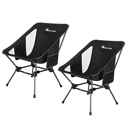 MOON LENCE Backpacking Chair Outdoor Camping Chair Compact Portable Folding Chairs with Side Pockets Packable Lightweight Heavy Duty 400lb Capacity for Camping Backpacking Hiking
