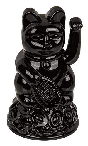 Gato de la suerte Maneki Neko (12 cm), color negro