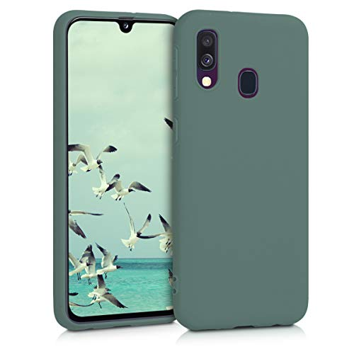 kwmobile Cover Compatibile con Samsung Galaxy A40 - Custodia in Silicone TPU - Backcover Protezione Posteriore- Verde Militare