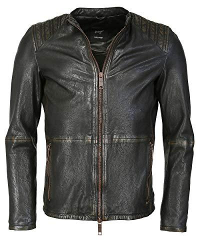 Maze Herren Lederjacke Mit Absteppungen 42020503 Black Copper XL Black