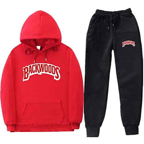 GIRLXV Sudaderas De Moda para Hombre Y Mujer Backwoods Sudaderas Y Pantalones con Capucha Conjunto De Abrigo Jersey con Capucha M