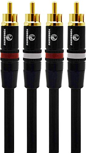 オーディオファン RCAケーブル 短い 30cm ケーブル径 Φ5.6mm 2本 1セット