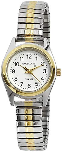 Excellanc Damen - Uhr Zugarmband Metall Comfort Fit Analog Quarz 1700038-002