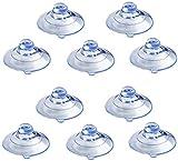 30 ventosas de detector de radar, utilizadas para protectores transparentes de cobra y ventosas de parabrisas de coche, ventosas suaves anticolisión, muy adecuadas para decoración del hogar