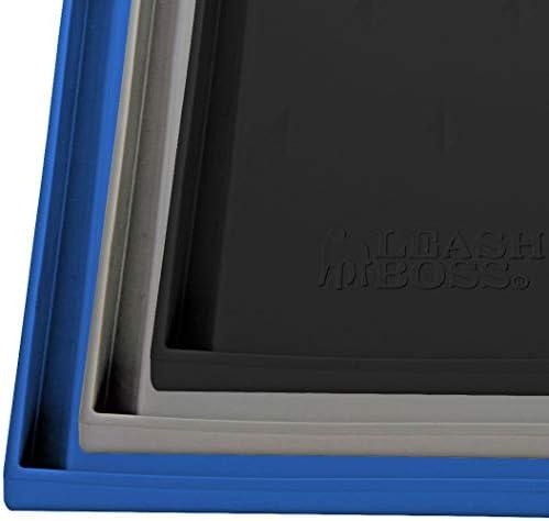 Leashboss Splash Mat XL Dog Food Mat with Tall Lip 25 x17 Extra Large Dog Bowl Mat for Food product image