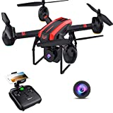 SANROCK Drones with Camera for Adults and Kids, 1080P Full HD FPV Live Video, X105W RC Quadcopter App Control, Altitude Hold, Headless Mode, Trajectory Flight, Gravity Sensor, 3D Flip