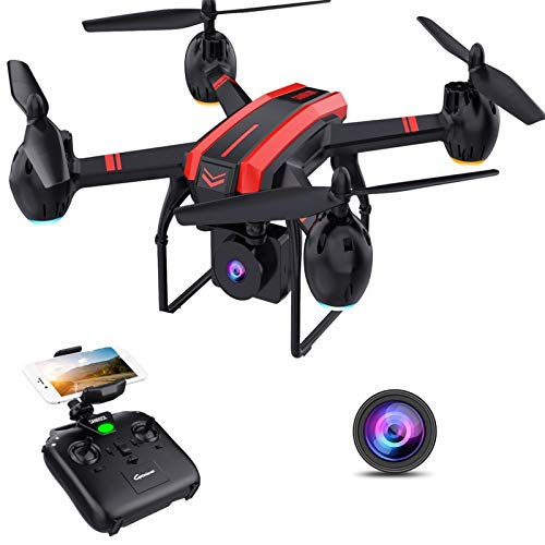 SANROCK X105W Drones with 1080P HD Camera for Adults and Kids, WiFi Real-time Video Feed, App Control. Long Flying Time 17Mins, Altitude Hold, Gravity Sensor, Route Made, One Button Return