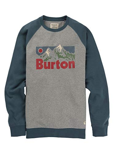 Burton Herren Vista Sweatshirt, Gray Heather, XS
