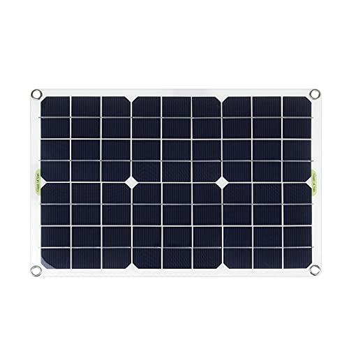 KELUNIS Panel Solar 80/150 / 200W 18V Kit De Módulo Fotovoltaico, Cargador De Sistema De Energía Solar Monocristalino para RV, Barcos, Techos, Superficies Irregulares,150w