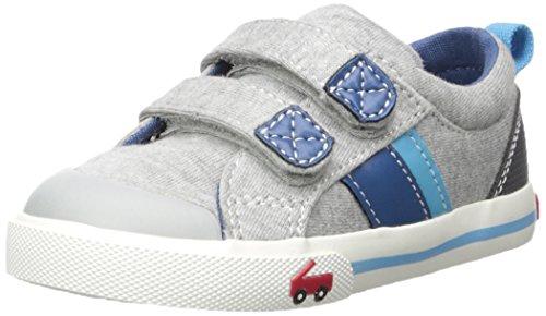 See Kai Run Boys' Russell Sneaker, Gray Jersey, 12 M US Little Kid