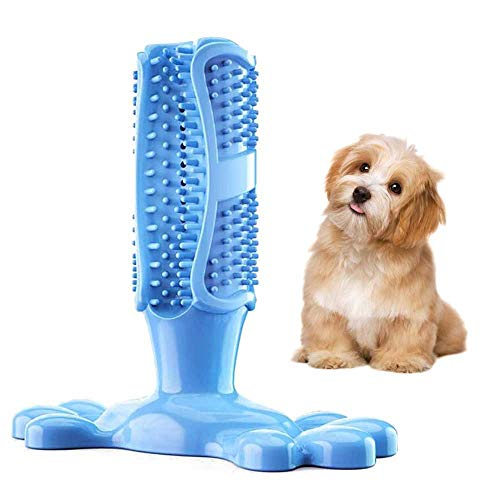 Natuurlijk Rubber Bite Resistant Chew Toys for Dog tandenborstel Stick Puppy Dental Care Chew Toys Doggy Tanden Hond Dental Chew Toys Doggy tandverzorging Massager,Blue,M