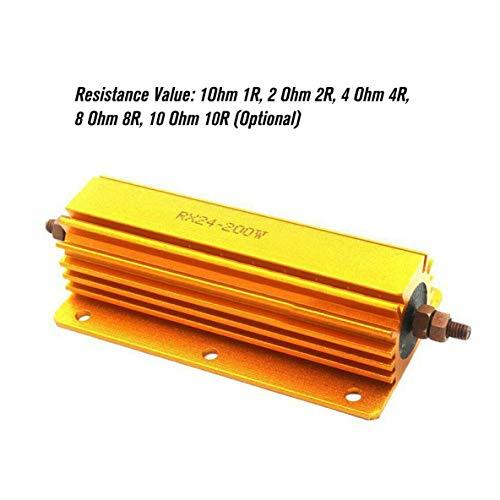 Rouku 1R 2R 4R 8R 10R 200 W Watt Leistung Metallwiderstand 4 Röhrenverstärker Test Blindlast Aluminiumgehäuse Stromgehäuse Drahtgewickelter Widerstand