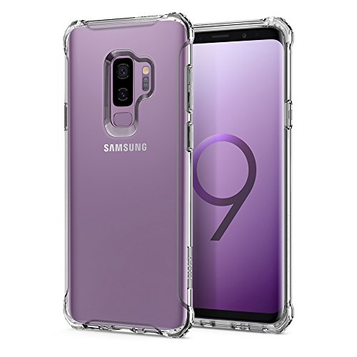 Spigen Cover Rugged Crystal Compatibile con Samsung Galaxy S9 Plus - Crystal Clear