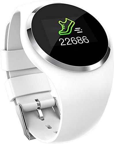 Fitness-Tracker Fitness Tracker IP7 Wasserdicht, Kinder Smart Watch Herzfrequenz-Monitor-Kalorie Schritt GPS Sport-Armband-Armband Schlaf-Monitor for Männer und Frauen Kinder, Weiss Sport Fitness Trac