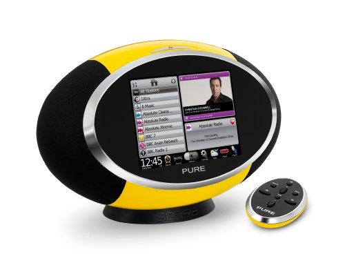 Pure Sensia Lautsprechersystem (DAB/DAB+/Stereo UKW-Tuner, 14,5 cm (5,7 Zoll) Touchscreen, W-LAN, 30 Watt RMS) gelb