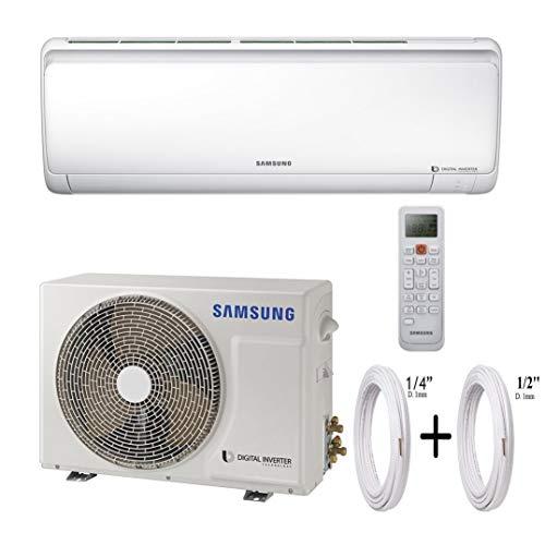 "Samsung Climatizzatore Condizionatore Quantum Maldives A++ Inverter Telecomando Incluso Gas R410A 18000 BTU (AR18NSFPEWQNEU+AR18NSFPEWQXEU) + Coppia Tubi Rame 1/4"" + 1/2"" (7 Metri (7+7))"