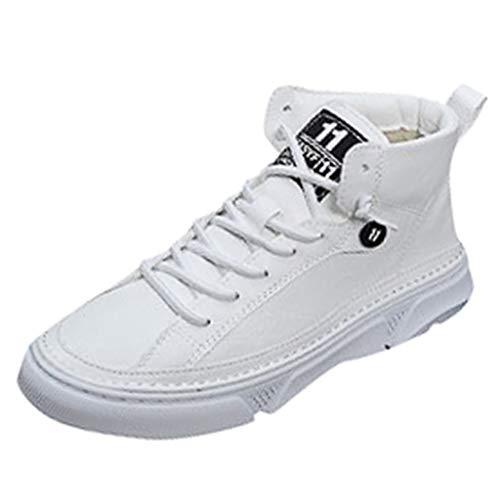 DAIFINEY Herren Mode Sicherheitsschuhe Arbeitsschuhe Leicht Atmungsaktiv Schutzschuhe Stahlkappe Schuhe Anti-Pannen Verschleißfest rutschfest Schutzschuhe(1-Weiß/White,40)