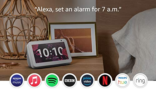 Introducing Echo Show 5 – Compact smart display with Alexa, White