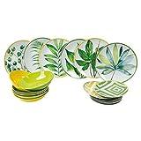 VILLA D'ESTE 5902709 Oriental Botanique - Juego de platos (18 piezas)