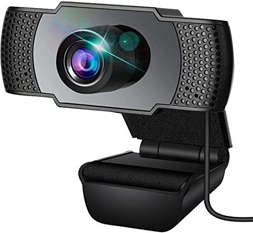 Webcam, Webcam con micrófono, PC Webcam, Streaming Computer Web Camera con soporte de denuncia 3D y ganancia automática, USB para videoconferencia, clases en línea y videoconferencia