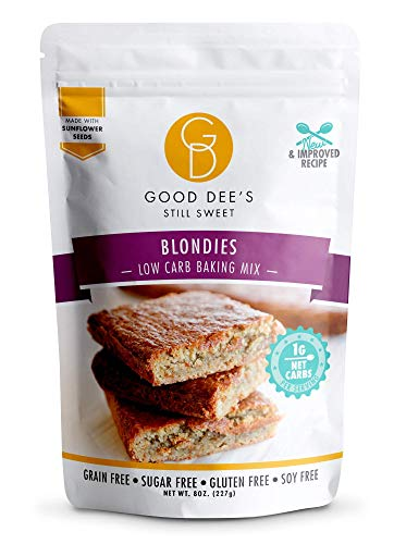 Good Dee's Blondie Brownie Mix - Low Carb Keto Baking Mix (1g Net Carbs, 12 Servings) | Sugar-Free, Gluten-Free, Grain-Free, Nut-Free, Soy-Free & IMO-Free | Diabetic, Atkins & WW Friendly