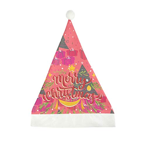 Christmas Tree New Year Women Christmas Hat for Adults Wowen Men Holiday Hat White 50x35cm