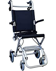 Mobiclinic, Neptuno, Opvouwbare rolstoel, Aluminium duwstoel, Opvouwbaar, riem, rem op de hendels, Met transporttas en remmen, lichtgewicht, zwart