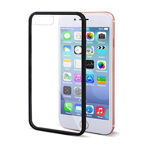 Generic Plastic Dust-Proof Screen Protector Cover Phone Case Black for iPhone 7 Plus