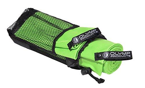 2-pack de serviettes à séchage rapide en microfibre avec des sacs en filet – produit Olympus originales serviette de voyage, sport serviette, serviette de remise en forme - 140 x 70 et 30 x 40 cm