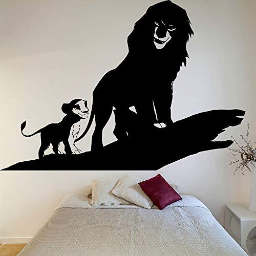 Roi Lion Décalque Simba Autocollant Roi Lion Décalque Bande Dessinée Décoration De La Maison Accessoires Pour Le Salon En Rouleaux