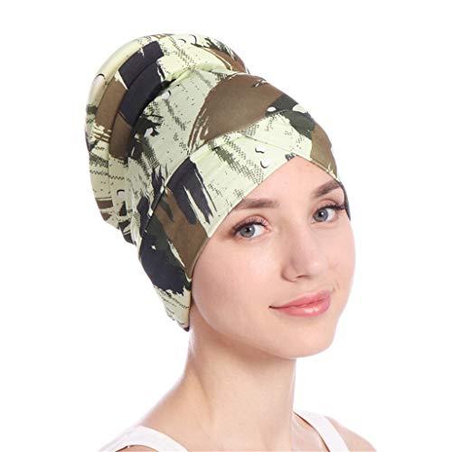 Dorical Damen Muslimische Kopftuch Blätter Design Indische Turban-Hüte Mütze Kopfbedeckung...