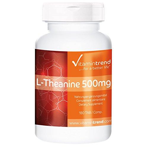 L–Teanina 500mg – 180 Comprimidos – ¡Bote para 6 MESES! – Para un sueño reparador