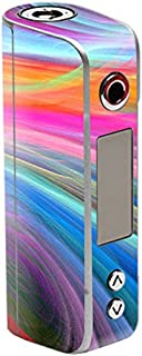 MightySkins Skin Compatible with Sigelei Spark 90W TC – Rainbow Waves | Protective, Durable, and Unique Vinyl Decal wrap Cover | Easy to Apply, Remove, and Change Styles | Made in The USA