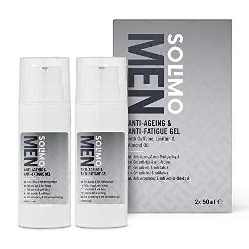 Amazon-Mark: Solimo Men Anti-Aging & Anti-Müdigkeitsgel, 2-er Pack x 50 ml