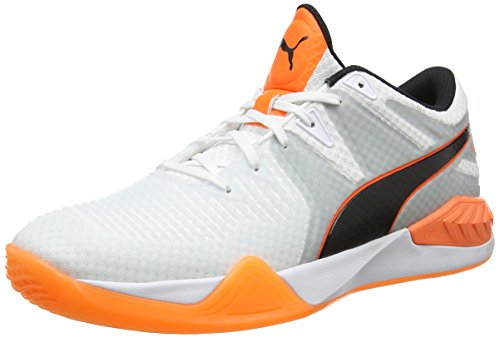 Puma Herren Explode 1 Multisport Indoor Schuhe, Weiß White-Quarry-Shocking Orange 02