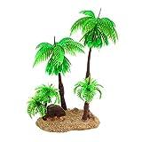 Nobranded Acuarios Plantas Decorativas, cocoteros Artificiales Verdes, Plantas para peceras, Ornamentos de paisajismo - 04