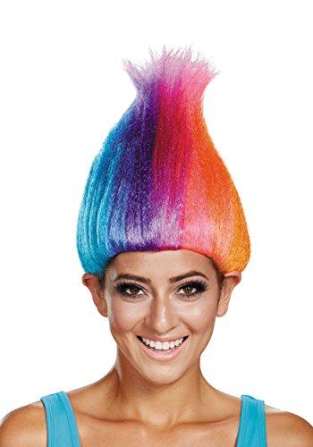 Rainbow Colored Adult Troll Wig Standard