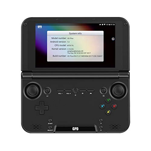 GPD XD Plus Handheld Game Console Android 7.0 Tablet 5' Touchscreen 4GB RAM 32GB Storage Mediatek MT8176 Hexa-Core Black