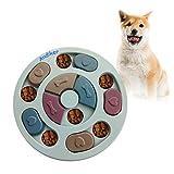 Andiker - Juguete de alimentación para perros, juguete interactivo para perros, juegos de cerebro para perros, mejorando el coeficiente intelectual, 3 colores (azul)