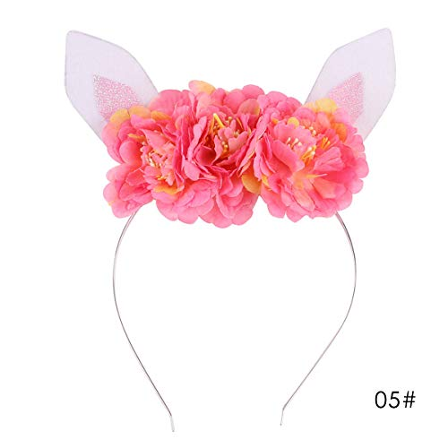 Ponacat meisjes slinger dier hoofdtooi kinderen hoofdband bloemen hoofddeksel haarwikkeling