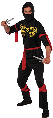 Rubie's Haunted House Collection Ninja Costume, Black, One Size