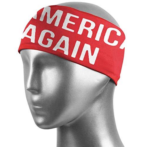 Hdadwy Make America Emo Again Banda para el cabello unisex, bandas para el sudor antideslizantes muy absorbentes, banda elástica súper suave y diadema