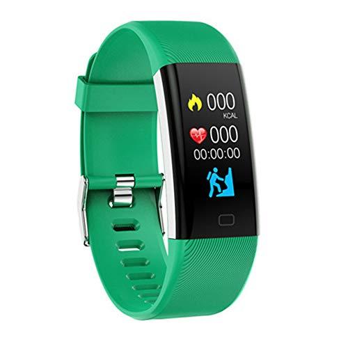 DSAK Pulsera inteligente impermeable multideporte Natación Running reloj rastreador de actividad compatible con el ritmo cardíaco oxígeno en sangre monitoreo del sueño (verde)