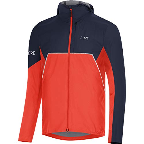 GORE WEAR R7 GTX I Kapuzenjacke Chaqueta de Running con Capucha Partial Gore-Tex INFINIUM, Hombre, Azul(Fireball/Orbit Blue), L