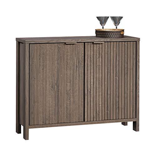 Sauder International Lux Accent Storage Cabinet, L: 40.24' x W: 13.03' x H: 32.01', Fossil Oak finish