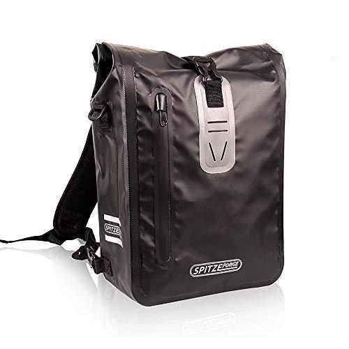Fahrradtasche für Gepäckträger mit 3 Reflektoren 100% Wasserdichte Fahrrad Gepäckträgertasche, Rucksack, Umhängetasche 3 in Einem Hinterradtasche 18L für Einkaufen, zur Arbeit und Fahrradtour