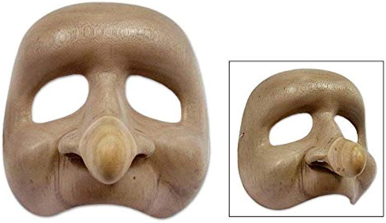 NOVICA 80229 Big Nose Holzmaske, beige B0002PDUO6 Eleganter Stil    Die Königin Der Qualität